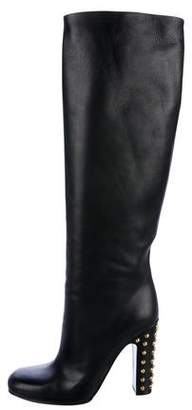 Gucci Jacquelyne Studded Knee-High Boots