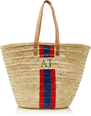 Rae Feather M'Onogram Long Handle Basket with Stripe