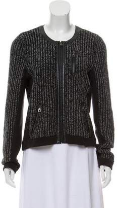 Rag & Bone Knit Collarless Jacket