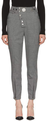 Alexander Wang Grey Houndstooth Multi-Snap Trousers