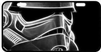 """Star Wars Bestgift Best Personalized Custom Stormtrooper Metal License Plate for Car Tag Fashion Durable Novelty License Plate 11.8"""" X 6.1"""""""