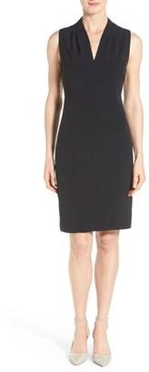 Women's T Tahari 'Tonya' V-Neck Sheath Dress $118 thestylecure.com