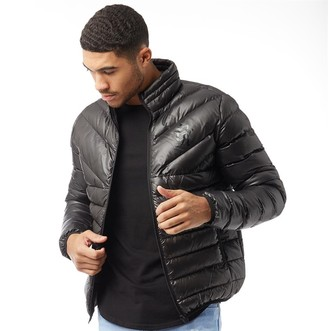 09b22301ae4f4 Gym King Mens Reign Quilted Jacket Black