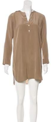 Vince Silk Shirt Dress
