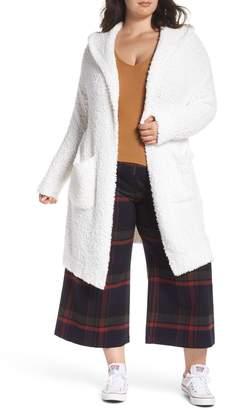 BP Plush Hooded Cardigan