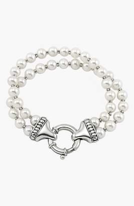 Lagos 'Luna' Double Strand Pearl Bracelet