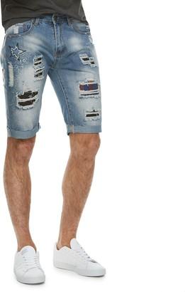 X-Ray Xray Men's XRAY Slim-Fit Distressed Denim Shorts