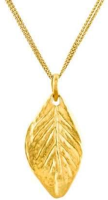 18K Leaf Pendant Necklace