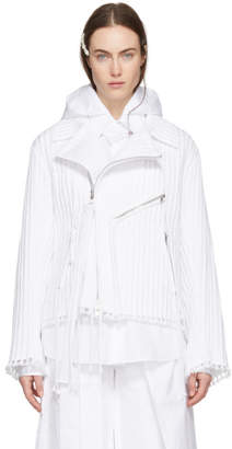 Craig Green White Cord Biker Jacket