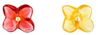 Baccarat 18K Hortensia Clip-On Earrings