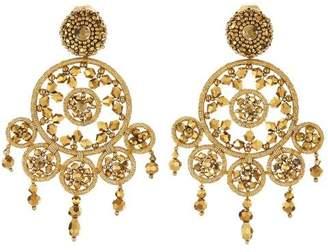 Oscar de la Renta Dreamcatcher Beaded Earrings
