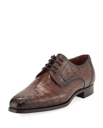Magnanni for Neiman Marcus Alligator Oxford Shoe, Brown $3,795 thestylecure.com