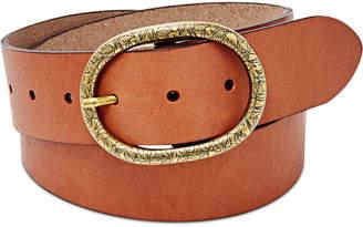 Fossil Vintage Oval Leather Belt