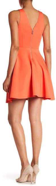 Ted Baker Embroidered Neoprene Fit & Flare Dress