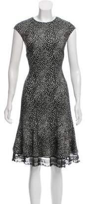 Behnaz Sarafpour Wool Animal Print Dress