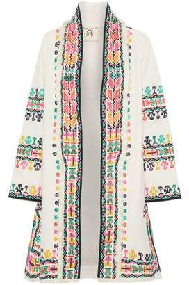 Figue Fringe-Trimmed Embroidered Cotton Jacket