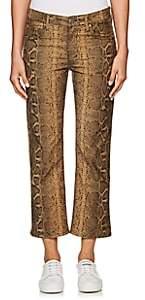 Etoile Isabel Marant Women's Apolo Snakeskin-Print Corduroy Jeans - Brown