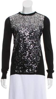 Magaschoni Sequin Silk Top