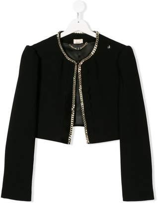 Elisabetta Franchi La Mia Bambina TEEN chain embellished jacket
