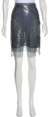 Clements Ribeiro Embellished Knee-Length Skirt