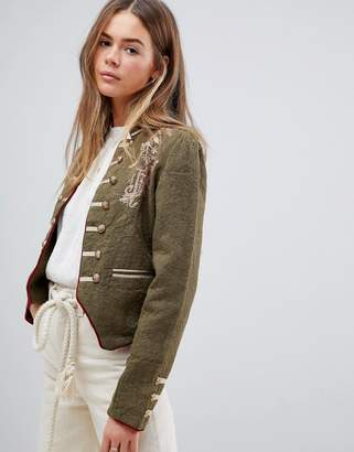 Free People Laurens Band military jacket