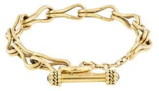 Elizabeth Locke 18K Sapphire Link Bracelet