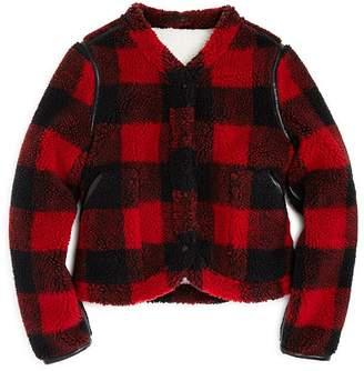 Blank NYC BLANKNYC Girls' Plaid Sherpa Jacket - Big Kid