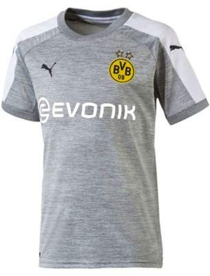 Puma Borussia Dortmund Bvb 2017/18 Kids Third Football Shirt Grey 12/14
