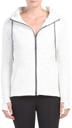 Ottoman Rib Full Zip Hoodie With Pockets
