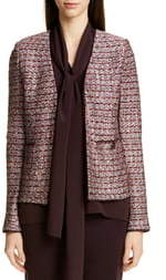 St. John Multi Texture Inlay Knit Jacket