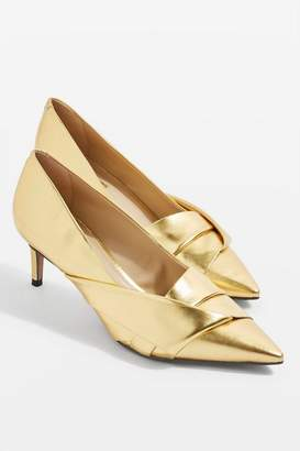 Topshop Joy Bow Detail Mid Heel Shoes