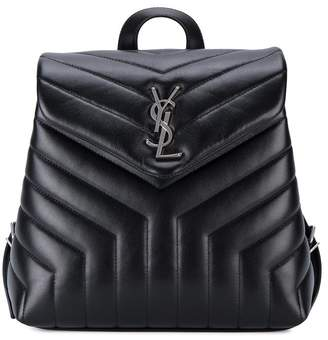 Saint Laurent Small Monogram Leather Backpack