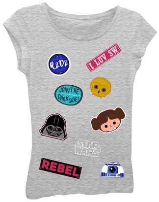 Star Wars Girls' Short Sleeve Graphic T-shirt With Puff Ink