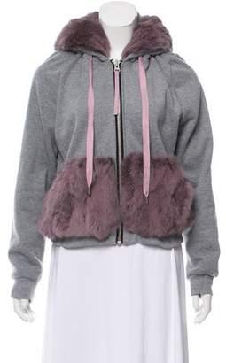 Jocelyn Fur-Trimmed Hooded Jacket