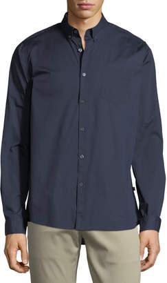 Civil Society Stretch-Woven Button-Down Shirt, Navy