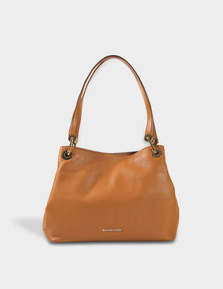 MICHAEL Michael Kors Raven Large Shoulder Tote Bag in Acorn Small Pebble Leather