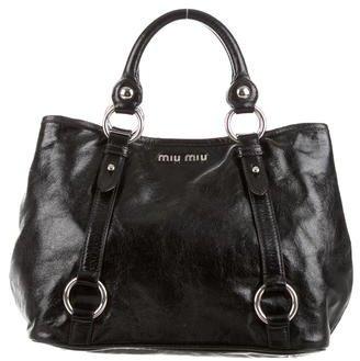 Miu MiuMiu Miu Coated Leather Handle Bag
