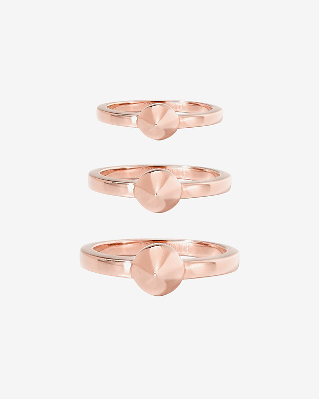 Eddie Borgo Set Of 3 Single Cone Rings