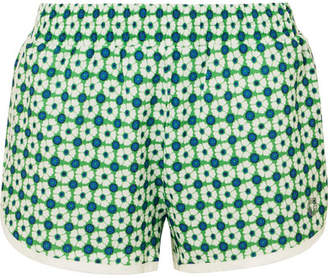 Tory Sport Floral-print Shell Shorts - Green
