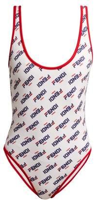 a7a52637d2 Fendi Mania Logo Print Swimsuit - Womens - White