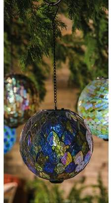 Evergreen Enterprises, Inc Feathered Mosaic Hanging Solar Gazing Ball