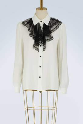 Miu Miu Shirt with lace collar