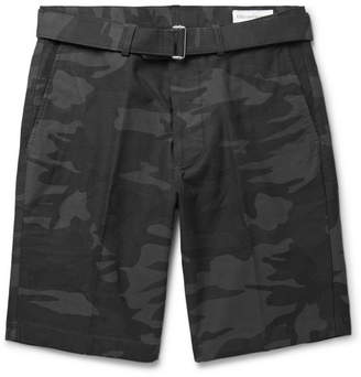 Officine Generale Julian Slim-Fit Camouflage-Print Stretch-Cotton Shorts