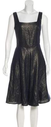 Ralph Lauren Purple Label Metallic Knee-Length Dress