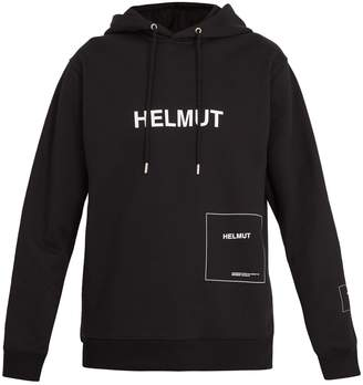Helmut Lang Logo-printed hooded sweatshirt