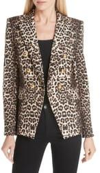 Veronica Beard Miller Leopard Print Dickey Jacket