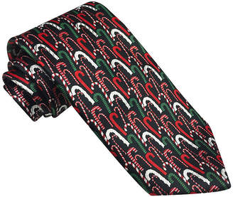 Asstd National Brand Hallmark Multi-Foil Candy-Cane Tie - Extra Long