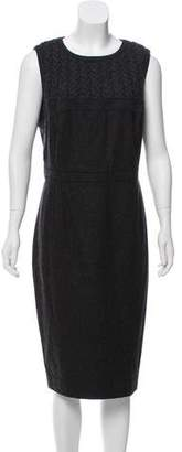 Magaschoni Wool Sheath Dress