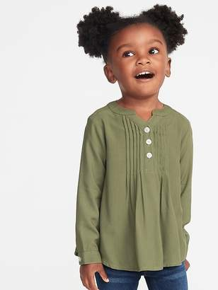 Old Navy Mandarin-Collar Pintuck Tunic for Toddler Girls