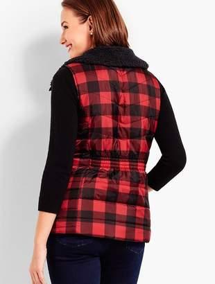 Talbots Buffalo Check Primaloft® Vest